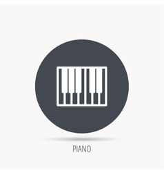 Piano icon Royal musical instrument sign vector image