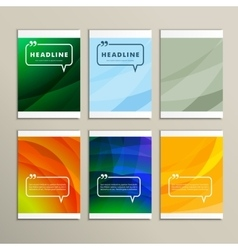 Set six abstract pictures of bright color vector image vector image