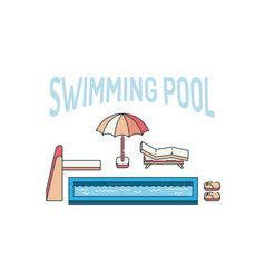 swimming pool summer vector image vector image