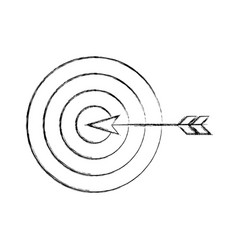 target goal with dart isolated icon vector image