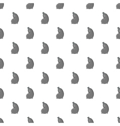 Trash bag pattern cartoon style vector image vector image