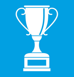 winning gold cup icon white vector image