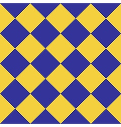 Yellow blue chess board diamond background vector