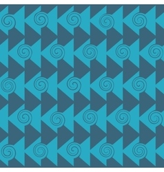 Triangle and spiral seamless pattern vector