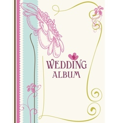 Wedding album cover vector
