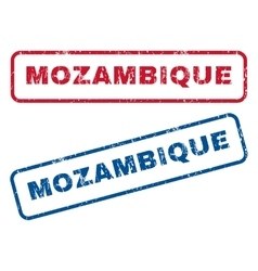 Mozambique rubber stamps vector
