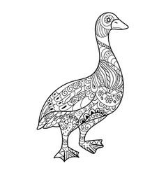 Goose coloring book vector