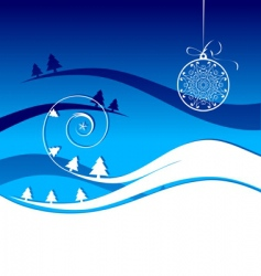 Winter holiday christmas card vector