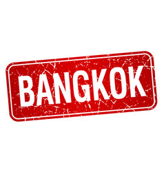 Bangkok red stamp isolated on white background vector