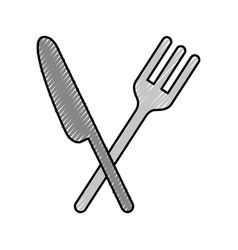 Cutlery kitchen isolated icon vector