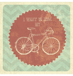 Vintage styled poster bicycle vector