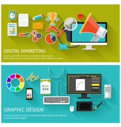 Digital marketing concept graphic design vector