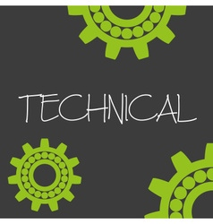 Cogwheel technical machine design banner and vector