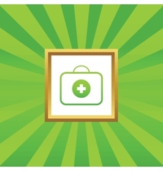 Fisrt aid kit picture icon vector