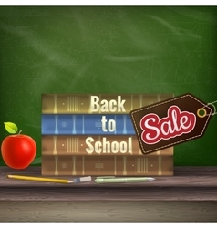 Back to school sale poster eps 10 vector