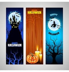 Three vertical Halloween banners vector image