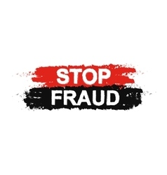 Stop fraud grunge sign vector