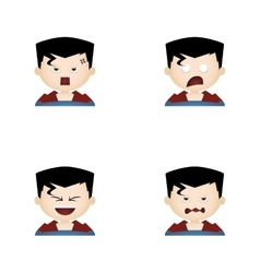 Costume facial expressions vector