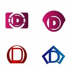 letter D logo template Abstract icon vector image