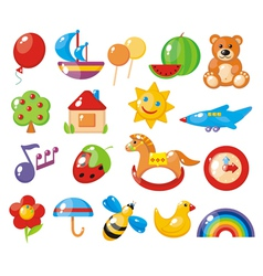 Set of colorful childrens pictures for vector