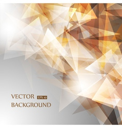 Brown geometric background vector image