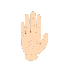 Hand showing five fingers icon cartoon style vector