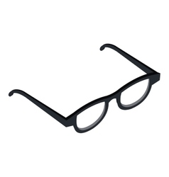 Optical glasses isolated flat icon vector image