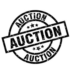 Auction round grunge black stamp vector
