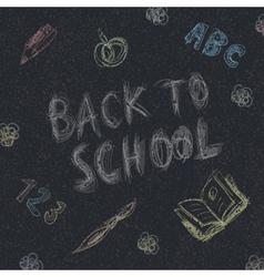 back to school on asphalt vector image vector image