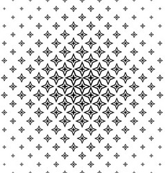 Black and white abstract polygon pattern design vector