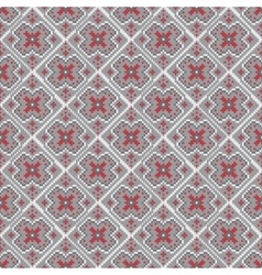 Bright pixel christmas seamless pattern vector