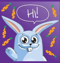 cartoon bunny hi vector image