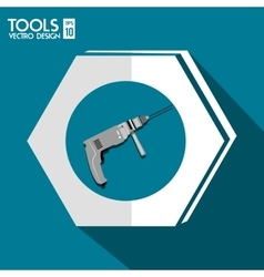 Construction repair tools graphic vector image