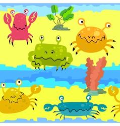 cute crabs vector image