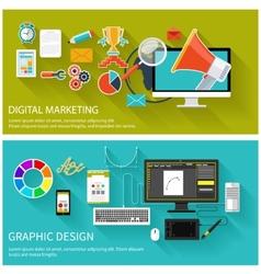 Digital marketing concept graphic design vector