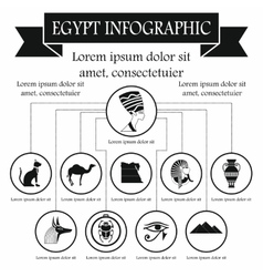 Egypt infographic elements simple style vector