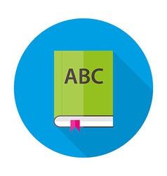 English abc book flat circle icon vector