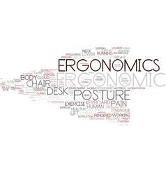 Ergonomics word cloud concept vector
