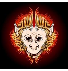 Fire monkey face vector