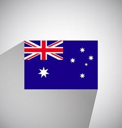 Flat flag of australia vector