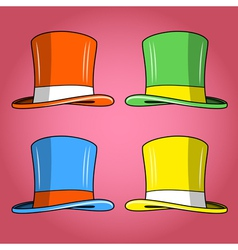 Four colored hats vector image vector image