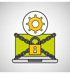 Gear security internet technology vector