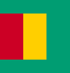 Guinea national flat country flag vector