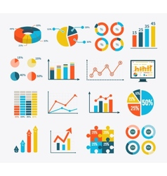 Infographic Set Graph and Charts Diagrams vector image vector image