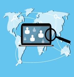 Laptop web search vector