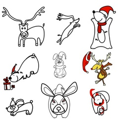 mixed animals vector image