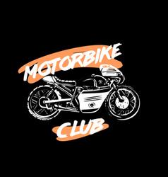 moto bike icon cafe racer vector image vector image