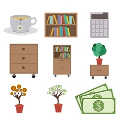 Office design vector image