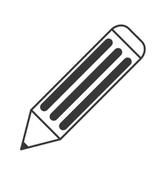 pencil with eraser icon vector image