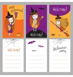Print templates set for Halloween vector image vector image